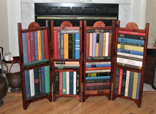 Handcrafted Signed Divider Fireplace Screen Summer books rare excellently craftd