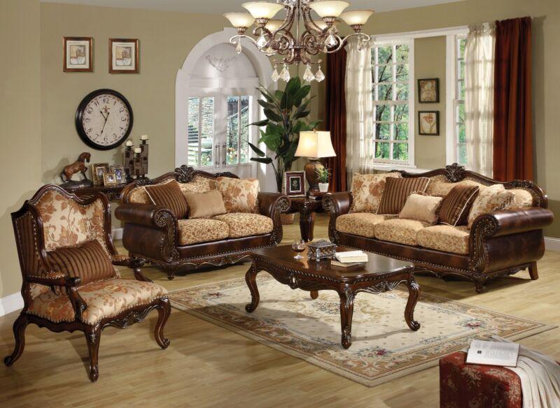 Remington Set 2pc Sofa & Loveseat W/ Pillowstraditional Living Room Furniture