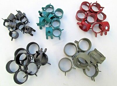 Small HOSE CLAMP Assortment (40-Pieces)Oil Fuel Lines Injection Controls 5-Sizes