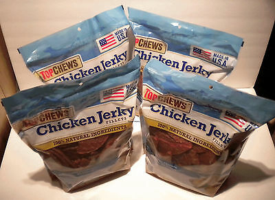 12 LBS of Top Chews Chicken Jerky Fillets 100% Natural All American Dog Treats