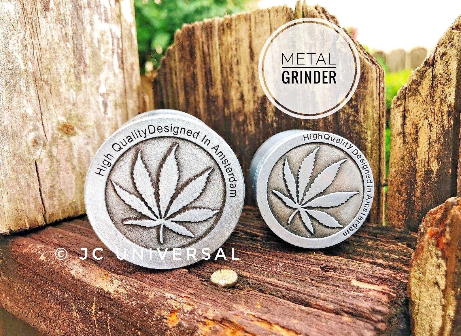 Tobacco Herb Grinder Spice Herbal Alloy Smoke Crusher 4Piece