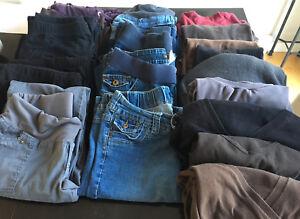Vêtements maternité taille medium, lot complet 220$