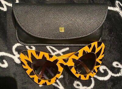 LINDA FARROW X JEREMY SCOTT Tiger print cat-eye sunglasses RRP: £200