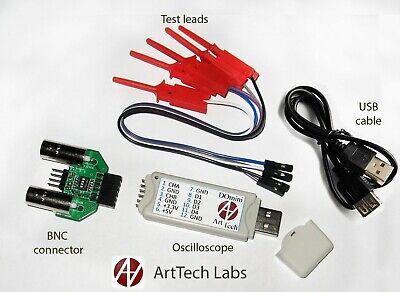 Domini Digital Usb Oscilloscope 2 Ch Bnc Connector