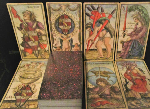 """SEALED NEW! MUSEUM QUALITY SOLA BUSCA TAROT CARDS & BOOK  7 3/4"""" X 5 1/4"""" CARDS"""