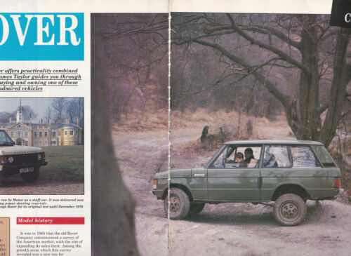 2 LOT Vintage Range Rover, Multiple-Page Magazine Articles - Both UK issue