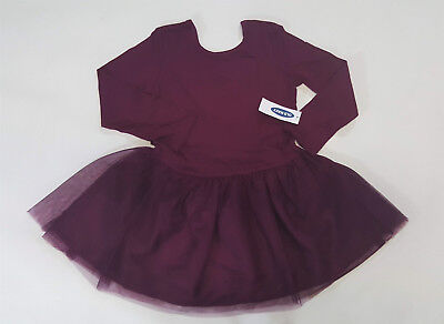 NWT Old Navy Girls Size 12 18 24 Months 2t 3t 4t 5t Burgundy Ballet Tutu Dress](Navy Tutu Dress)