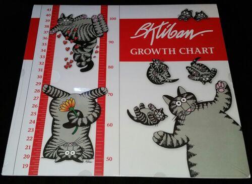 """New Sealed B. Kliban Cat Sticker Wall Growth Chart 11"""" x 48"""" Milestone Stickers"""