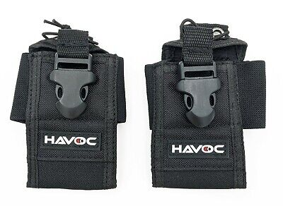 2-pack Universal Handheld Portable Two-way Radio Holster Holder Pouch