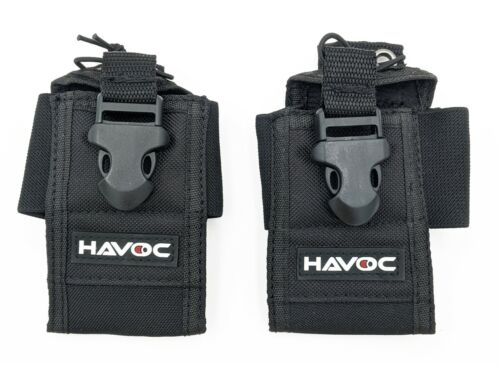 2-Pack Universal Handheld / Portable Two-Way Radio Holster / Holder / Pouch
