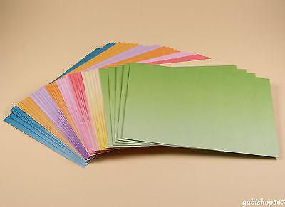 40 Briefhüllen C6 farbig 11,4x16,2cm Farbverlauf Briefumschläge bunt