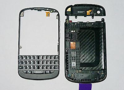 Black Blackberry Faceplates - Black housing cover fascia facia faceplate case for BlackBerry Q10