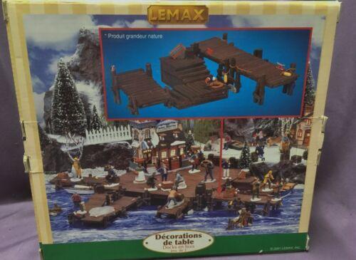 LEMAX 2002 HALLOWEEN OR CHRISTMAS VILLAGE ACCESSORIES – DOCKS (3) PCS