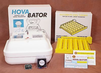 HOVABATOR EGG INCUBATOR KIT | Egg Turner | Fan Kit | Thermometer/Hygrometer