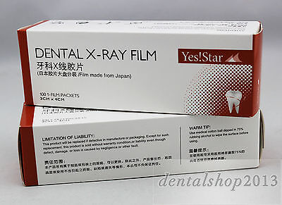 100pcs Dental X-ray Intraoral Film D Speed Size 2 For X Ray Film Reader Scanner