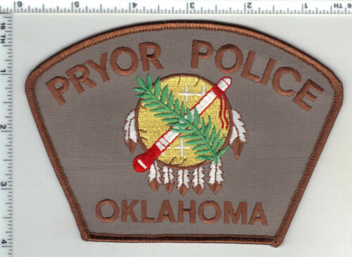 Pryor Police (Oklahoma) Shoulder Patch from the 1980