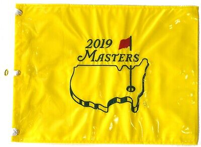 2019 MASTERS Official EMBROIDERED Golf Pin FLAG Sealed won by TIGER WOODS Golf Pin Flag