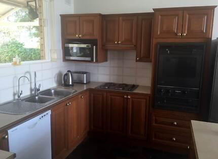 Complete solid timber kichen with sink, oven,  and cooktop Panorama Mitcham Area Preview