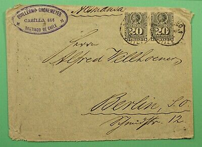 DR WHO 1896 CHILE SANTIAGO TO GERMANY C244504