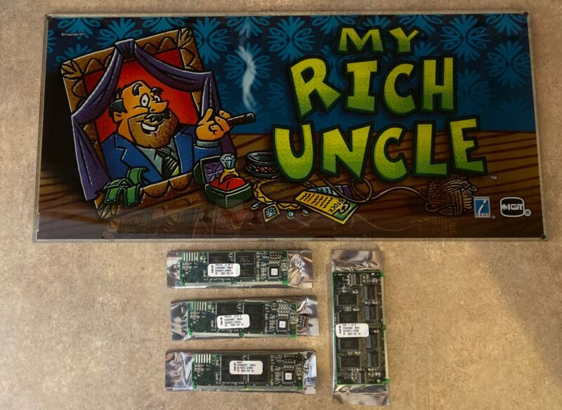 "IGT ""My Rich Uncle"" Slot Machine Glass w/Simm Cards FAST FREE SHIP!! Z-9"