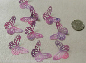 18 PRE CUT READY TO USE BUTTERFLY EDIBLE CAKE TOPPERS