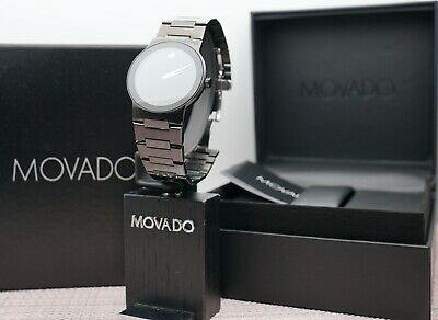 Swiss Movado Safiro Black PVD Coated Stainless Steel Model # 0605899 Men's Watch