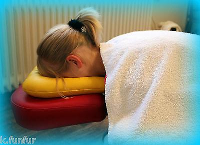 Kunstleder Gesichtshörnchen Massagebank Nackenhörnchen Relaxliege Kopfstütze Neu
