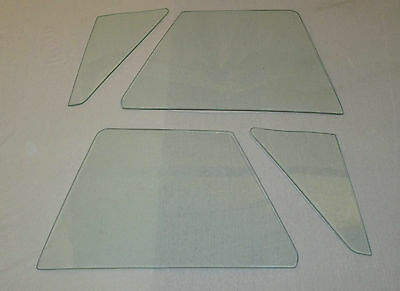 1963-1967 CORVETTE CONVERTIBLE 4 PC SIDE GLASS SET CLEAR DATED TO MATCH YOUR CAR
