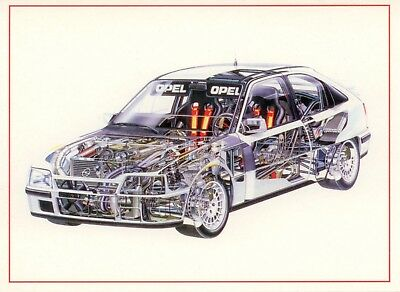 Opel Kadett GSi 4x4 Transparent Picture Interior Postcard Card NEW for sale  Shipping to United States