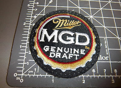 Miller MGD Genuine draft Cap style Embroidered Patch