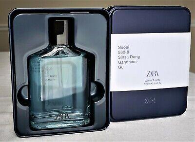 ZARA SEOUL 532-8 Sinsa Dong Gangnam-Gu *LIMITED EDITION* Men's Perfume, SEALED