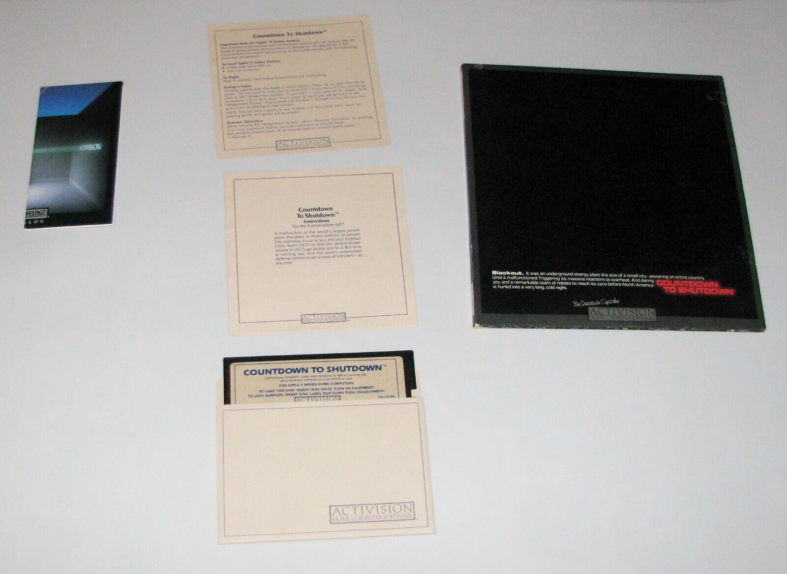 Computer Games - COUNTDOWN TO SHUTDOWN Apple 2 Vintage computer game byActivision (USED/ AS IS)