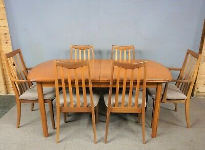 G Plan Teak Extending dining table & 6 chairs - Vintage / Retro  DELIVERY OPTION