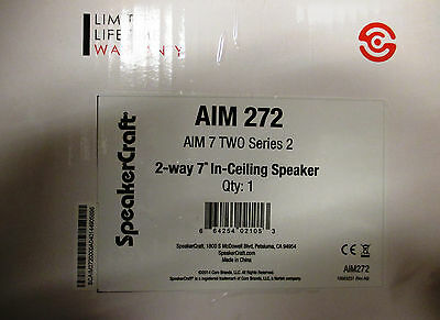 NIB Speakercraft AIM7-Two Series 2 In-Ceiling Speaker - Each / Aim 272