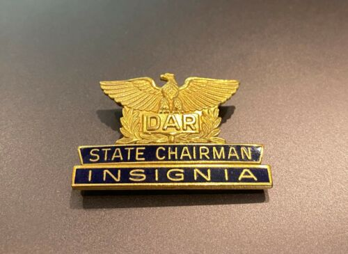 "DAR Daughters of the American Revolution GF ""State Chairman Insignia"" Pin"