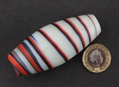 Trade bead. Large Indian barrel bead.