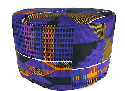 African Kufi Kente Print Hat Unisex Traditional Cap Black History Month Size62cm
