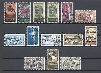 CYPRUS 1962 SG 211/23 & Shade USED Cat £38