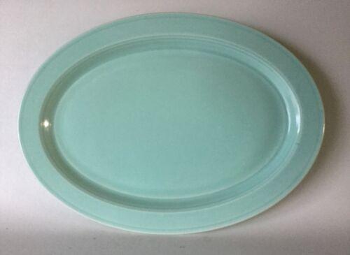 "VERNON KILNS Ware Modern California Pistachio Ice Green Oval Platter 14 3/8"""