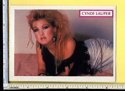 CYNDI LAUPER Vintage 1984 Postcard; post card; rppc; Very Rare; EX Cond; Cindy