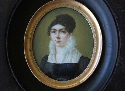 """Miniatura """" Sognanti Bambina """"Biedermeier circa 1820 Ritratto uno Ragazzi Lady, usado comprar usado  Enviando para Brazil"""
