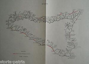 SICILIA-MAPPA-TOPOGRAFICA-GEOLOGIA-COSTE-PORTI-MILITARIA-DECORATIVA-D-039-EPOCA