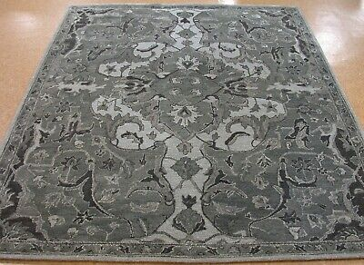 9' x 12' Pottery Barn Nolan Rug Gray New Hand Tufted Wool Carpet Hand Tufted Carpets