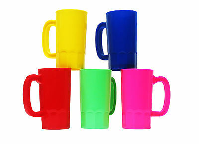 36 Kids Small 14 Oz.Plastic Mugs Mix Five Colors Made in America Lead Free*