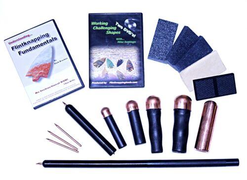 Mega Kit - Flint knapping tools, flintknapping, arrowheads, flaker, bopper,