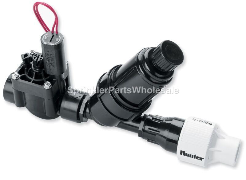 "Hunter 1"" PCZ-101-25 Drip Zone Control PGV Valve Kit w/ 25 PSI Pressure PCZ10125"