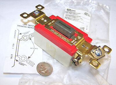 Bryant Hubbell4901l Nos Brown Key Locking Toggle Switch 20a 1p 120277vac No Key