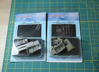 Aires 1/48 Scale F/A-18E Super Hornet Lot Cockpit Set Wheel Bay 4282 4295