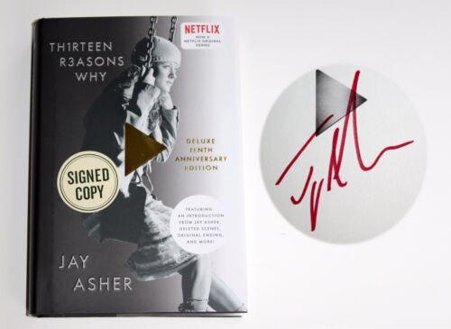 JAY ASHER SIGNED THIRTEEN REASONS WHY HARDCOVER BOOK NETFLIX ANV ED 13 AUTOGRAPH