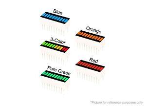 5 pcs LED 10-SEGMENT Bargraph Array Display Bar Graph (1 of each color)